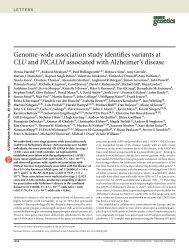 Genome-wide association study identifies variants at CLU and ...