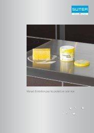 Manuel d'entretien pour les produits en acier inox - Suter Inox AG