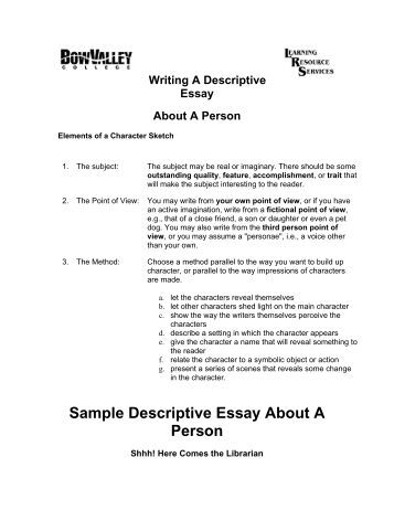 Describtion essay