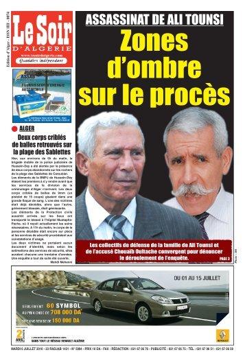ASSASSINAT DE ALI TOUNSI - Le Soir d'Algérie