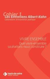VIVRE ENSEMB LE - Les entretiens Albert-Kahn, laboratoire d ...