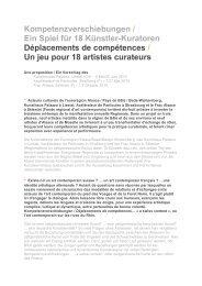 Déplacements de compétences - Agence Culturelle d'Alsace