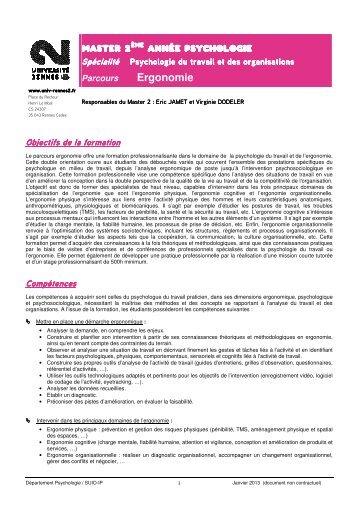 Ergonomie - Université Rennes 2
