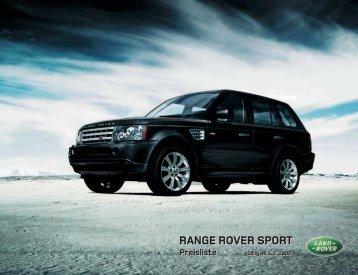 RANGE ROVER SPORT Ausstattung - Motorline.cc