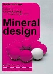 Mineral design - Lieu du Design