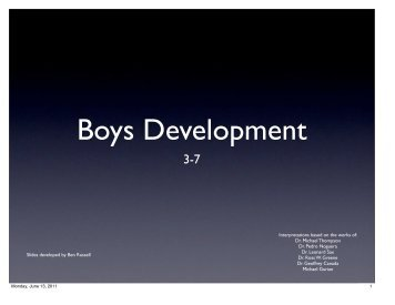 Boys Develop - BPS Early Childhood