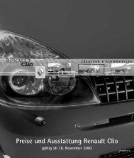 Preise und Ausstattung Renault Clio - Motorline.cc