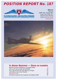 POSITION REPORT No. 187 - AOPA Switzerland