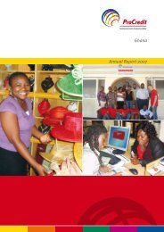 Annual Report 2007 Ghana - ProCredit