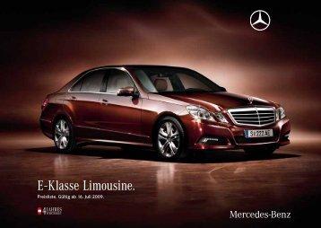 E - Klasse Limousine. - Motorline.cc