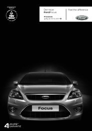 Feel the difference Der neue FordFocus - Motorline.cc