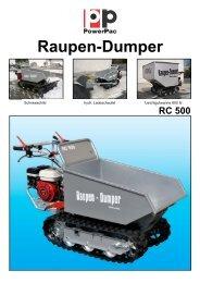 Raupen-Dumper RC500 - PowerPac.ch