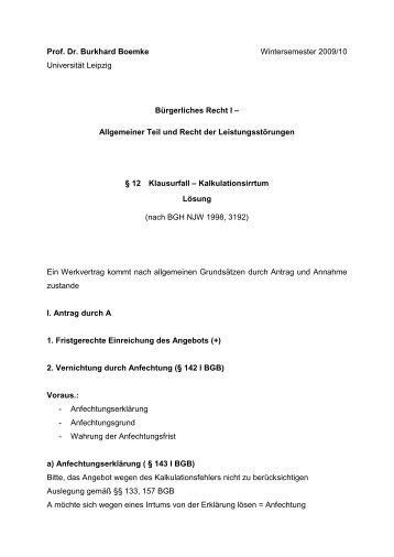 Allgemeiner Teil und Recht der - Universität Leipzig