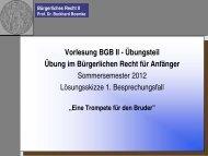 Bürgerliches Recht II Prof. Dr. Burkhard Boemke