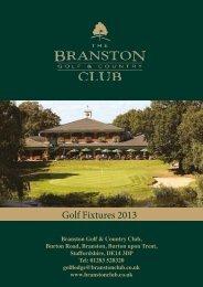 18-hole fixture List - Branston Golf & Country Club
