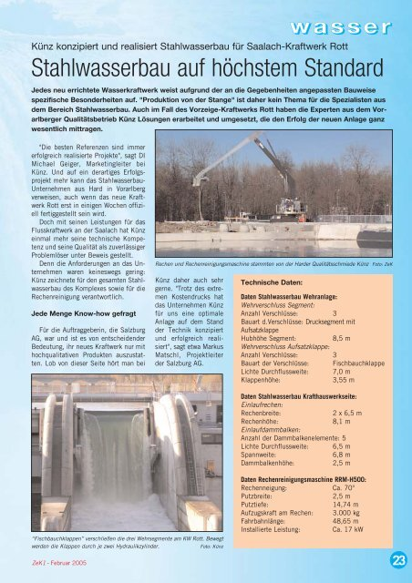 Stahlwasserbau auf höchstem Standard