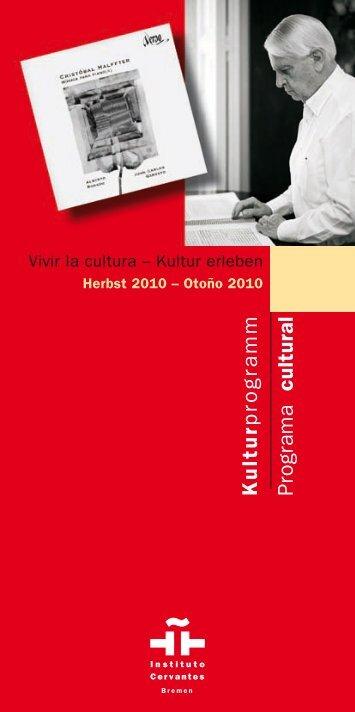 Kulturprogramm Programa cultural - Instituto Cervantes Bremen