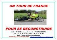 UN TOUR DE FRANCE POUR SE RECONSTRUIRE - Webnode
