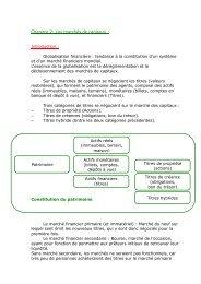 Chapitre 2: Les marchés de capitaux : Introduction ... - MyLessons