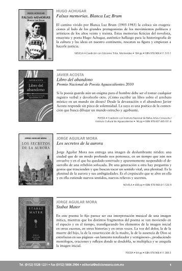Falsas memorias. Blanca Luz Brum Los secretos de ... - Ediciones Era