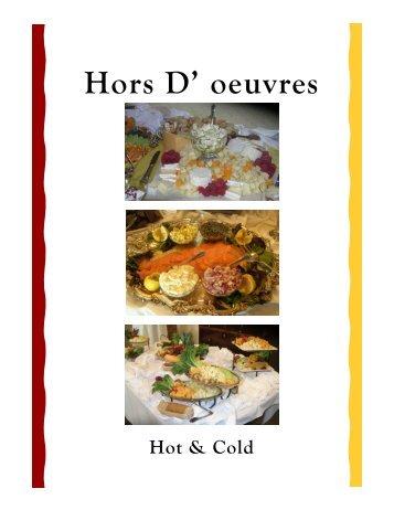Hors D' oeuvres Menus