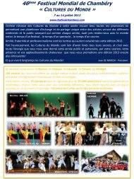 Newsletter Bilan Festival Chambéry 2012 - cioff france