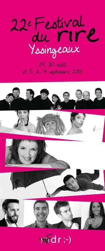 Télechargez le programme en PDF - Festival du Rire D'Yssingeaux