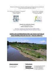 Analyse des problématiques liées aux usages de l'eau en zones ...