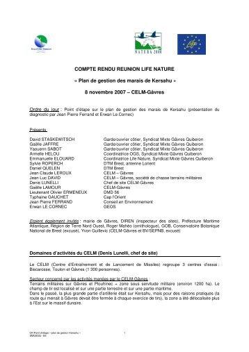Plan de gestion des marais de Kersahu - Grand Site Gâvres-Quiberon