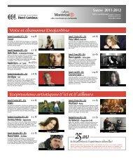 Programmation culturelle du centre Henri ... - Ville de Montréal