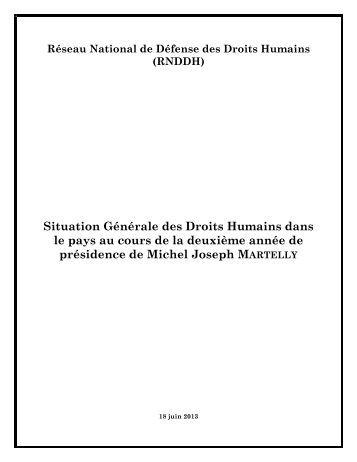 PDF – Rapport Droits Humains 2013 - Réseau National de Défense ...