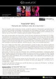 retrouvez l'ensemble des laureats 2013 - Travel d'Or