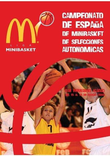 Revista Oficial Campeonato de España Minibasket McDonald's