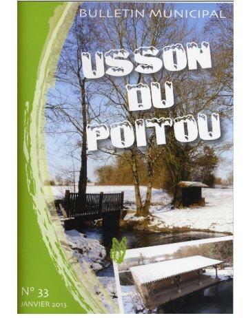Bulletin Municipal n°33 - Janvier 2013 - 1 - Mairie d'Usson du Poitou