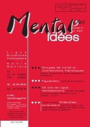 Mental idées . N°2 . Janvier 2004 - Ligue Bruxelloise Francophone ...