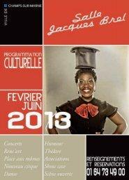 télécharger le programme (PDF ~ 1,8 Mo) - Champs-sur-Marne