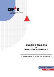 Justice fiscale = Justice sociale ! - Le CEPAG