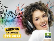 Agenda culturel - Boisbriand