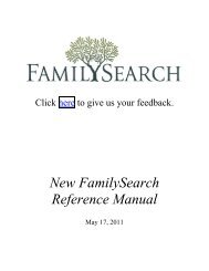 New FamilySearch Reference Manual - The Church of Jesus Christ ...