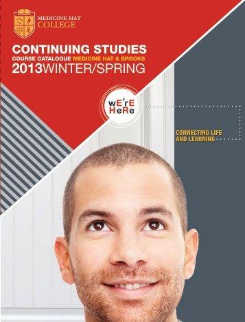 Calendar PDF Download - MHC - Continuing Studies - Medicine Hat ...