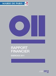 RAPPORT FINANCIER - Ville de Paris