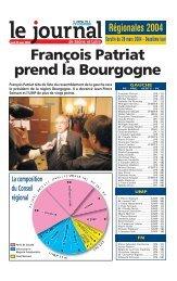 François Patriat prend la Bourgogne - Le Journal de Saône et Loire