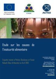 Etude sur les causes de l'insécurité alimentaire - ReliefWeb