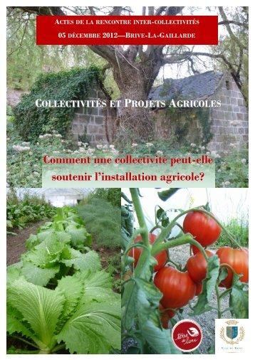 Collectivités et projets agricoles - Terre de Liens