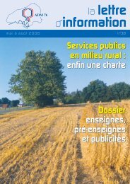 lettre ADM 38 fin, page 1-28 @ Normalize - Association des Maires ...