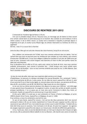 Editorial du bulletin n°113 - UTAN