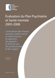 Évaluation du Plan Psychiatrie et Santé mentale 2005-2008