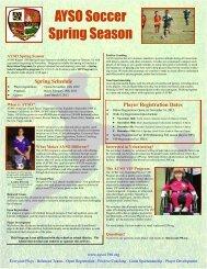 AYSO Soccer Spring Season - Brookhaven Elementary School