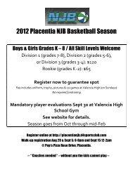 2012 Placentia NJB Basketball Season - Brookhaven Elementary ...