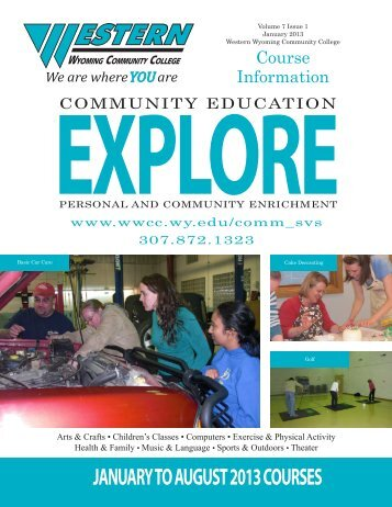 Spring 2013 Community Education Schedule (Explore) - Western ...